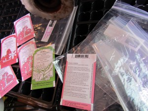 Seeds and Zipper Bags